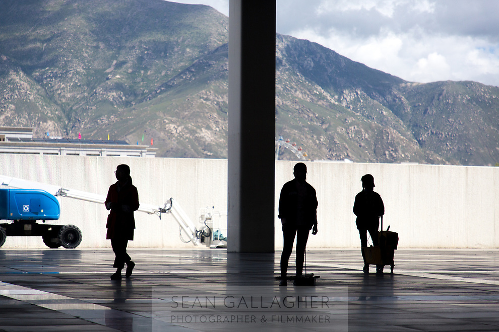 Lhasa train station, in Tibet.