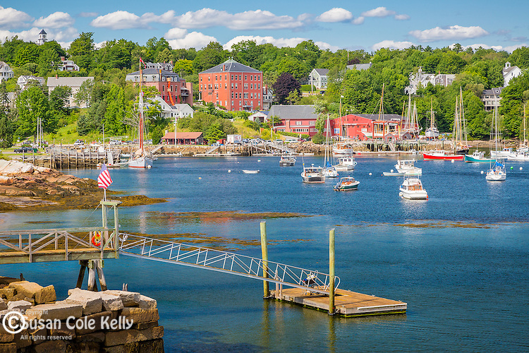 View of Rockport  Harbor in Rockport, Maine, USA