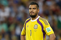 Goalkeeper Sergio Romero of Argentina
