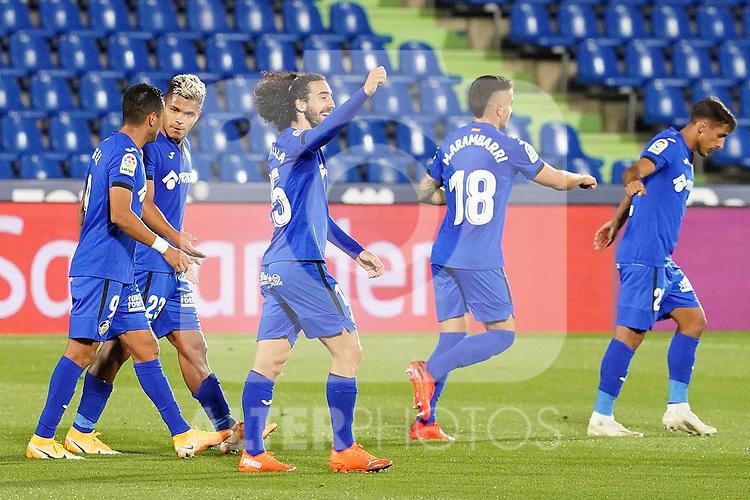 Getafe CF's Marc Cucurella celebrates goal during La Liga match. September 29,2020. (ALTERPHOTOS/Acero)
