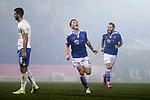 St Johnstone v Kilmarnock…06.11.20   McDiarmid Park SPFL<br />Danny McNamara celebrates his goal <br />Picture by Graeme Hart.<br />Copyright Perthshire Picture Agency<br />Tel: 01738 623350  Mobile: 07990 594431