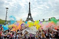 ILLUSTRATION - THE COLOR RUN PARIS, FRANCE, LE 16/04/2017