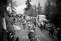 up the Montée de Bisanne (HC/1723m/12.4km/8.2%)<br /> <br /> Stage 19:  Albertville › Saint-Gervais /Mont Blanc (146km)<br /> 103rd Tour de France 2016