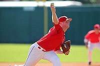 Stephen Rivera #22 of the St. John's Red Storm during the Big East-Big Ten Challenge vs. the Michigan Wolverines at Al Lang Field in St. Petersburg, Florida;  February 19, 2011.  St. John's defeated Michigan 13-6.  Photo By Mike Janes/Four Seam Images
