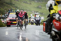 breakaway group with Sergio Andres Higuita (COL/EF Education Nippo), Ben O'Connor (AUS/AG2R Citroën) and  Nairo Quintana (COL/Arkéa Samsic) up the Cormet de Roselend  <br /> <br /> Stage 9 from Cluses to Tignes (144.9km)<br /> 108th Tour de France 2021 (2.UWT)<br /> <br /> ©kramon