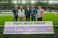 Sunday  14th   December 2014 <br /> Pictured: Match Sponsors <br /> Re: Barclays Premier League Swansea City v Tottenham Hotspur  at the Liberty Stadium, Swansea, Wales,UK