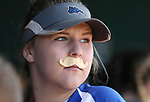 Basic Wolves' Lauren Powell watches first round action against the Douglas Tigers in the NIAA 4A softball tournament, in Reno, Nev., on Thursday, May 17, 2018. Douglas won 8-5. Cathleen Allison/Las Vegas Review-Journal