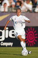 Staci Burt of the Carolina Courage. The Courage defeated the Power 2-1 on Wednesday August 7th at Mitchel Athletic Complex, Uniondale, NY.