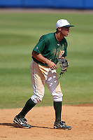 Dartmouth Big Green shortstop Joe Sclafani #14 during a game vs. the Northwestern Wildcats at Chain of Lakes Park in Winter Haven, Florida;  March 20, 2011.  Northwestern defeated Dartmouth 3-2.  Photo By Mike Janes/Four Seam Images