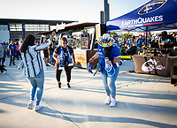SAN JOSE, CA - SEPTEMBER 4: Fans before a game between Colorado Rapids and San Jose Earthquakes at PayPal Park on September 4, 2021 in San Jose, California.
