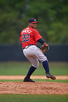 Atlanta Braves Ricardo Sanchez (22) during an intrasquad Spring Training game on March 29, 2016 at ESPN Wide World of Sports Complex in Orlando, Florida.  (Mike Janes/Four Seam Images)