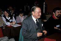 Jacques Parizeau attend the first convention of the Rassemblement Democratique pour l'independance (RDI), March 27 to 30, 1985.