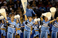 North Carolina cheerleaders during the NCAA Basketball Men's East Regional at Time Warner Cable Arena in Charlotte, NC.