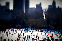 Ice skaters in Central Park<br />