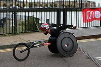 3rd October 2021; London, England: The Virgin Money 2021 London Marathon: Brent Lakatos of Canada crossing Narrow Street Swing Bridge, Limehouse Basin between mile 14 and 15.