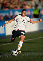 25 May 09:  USA National forward Abby Wambach #20 in action in an International Friendly soccer game between the US Women's Team and the Canadian Women's Team at BMO Field in Toronto..The US Women's Team won 4-0..