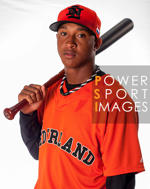 Jonathan Schoop of Team Netherlands poses during WBC Photo Day at the Taichung International Baseball Stadium on February 26, 2013 in Taichung, Taiwan. Photo by Victor Fraile / The Power of Sport Images