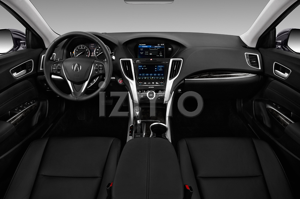 Stock photo of straight dashboard view of a 2020 Acura TLX AUTO 4 Door Sedan