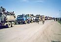 Iraq 1991 <br /> Peshmergas coming back from Ziweh in Iran during the uprising   <br /> Irak 1991 <br /> Peshmergas rentrant de Ziwa en 'Iran pendant le soulevement contre le regime irakien