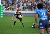 Brad Weber breaks from a scrum during the Super Rugby Aotearoa match between the Blues and Chiefs at Eden Park in Auckland, New Zealand on Sunday, 26 July 2020. Photo: Dave Lintott / lintottphoto.co.nz