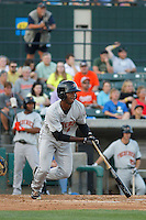 Frederick Keys outfielder Josh Hart (16) in action during a game against the Myrtle Beach Pelicans at Ticketreturn.com Field at Pelicans Ballpark on May 21, 2015 in Myrtle Beach, South Carolina.  Frederick defeated Myrtle Beach 4-3. (Robert Gurganus/Four Seam Images)