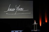 FRANCOISE NYSSEN (MINISTRE DE LA CULTURE) - SOIREE EN L'HONNEUR DE JEANNE MOREAU AU THEATRE DE L'ODEON A PARIS, FRANCE, LE 04/12/2017.