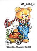 CUTE ANIMALS, LUSTIGE TIERE, ANIMALITOS DIVERTIDOS, paintings+++++,KL4590/1,#ac#, EVERYDAY ,sticker,stickers ,bear,bears ,autumn
