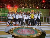 19.05.2018, Football DFB-Pokal Finale 2018, FC Bayern Muenchen - Eintracht Frankfurt, Olympiastadium in Berlin. Pokalwinner  Frankfurt celebrates  *** Local Caption *** © pixathlon<br /> <br /> Contact: +49-40-22 63 02 60 , info@pixathlon.de