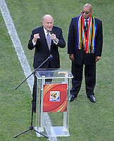 FIFA President Sepp Batter and South Africa President Jacob Zuma open the 2010 FIFA World Cup in South Africa