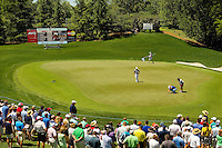 The 2014 Wells Fargo Championship, a PGA championship event held annually in Charlotte NC. The event previously was called The Wachovia Golf Championship. The event is held at the Quail Hollow Club in Charlotte, North Carolina in early May. Since its inception in 2003, the PGA golf championship event has attracted some of the top players on the tour. In 2009, the tournament had a $6.5 million purse with a winner's prize of $1.17 million. The event is often ranked among the PGA Tour's toughest holes. The majority of the charitable proceeds from the tournament benefit Teach for America.