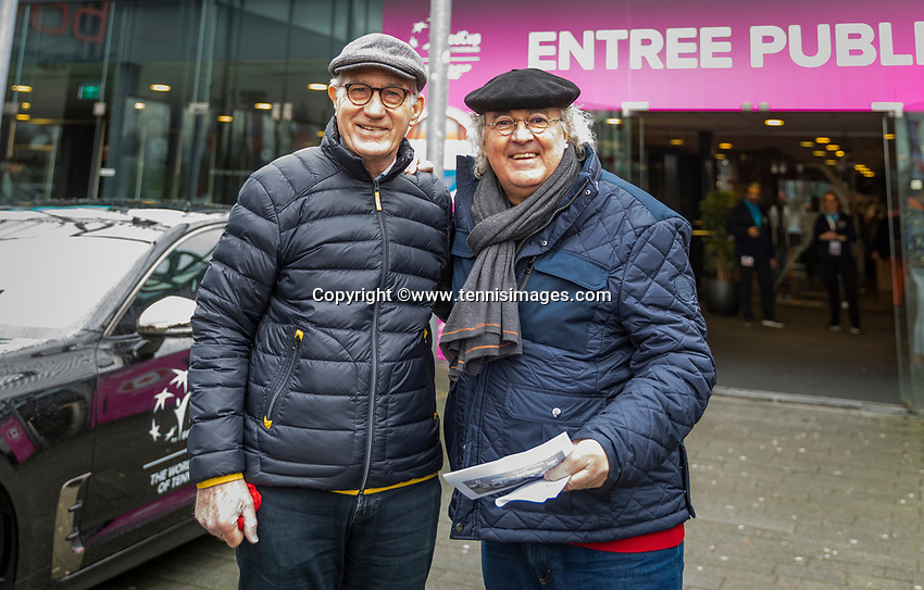 Den Bosch, The Netherlands, Februari 10, 2019,  Maaspoort , FedCup  Netherlands - Canada, Entree with Kia<br /> Photo: Tennisimages/Henk Koster