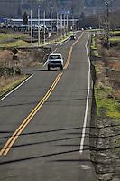 Road leading to Sundial Beach in Multnomah County Oregon