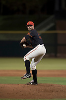 AZL Giants Black relief pitcher Garrett Christman (84) delivers a pitch during an Arizona League game against the AZL Royals at Scottsdale Stadium on August 7, 2018 in Scottsdale, Arizona. The AZL Giants Black defeated the AZL Royals by a score of 2-1. (Zachary Lucy/Four Seam Images)