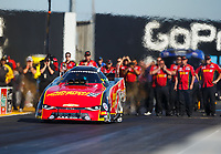 Jul 28, 2017; Sonoma, CA, USA; NHRA funny car driver Courtney Force during qualifying for the Sonoma Nationals at Sonoma Raceway. Mandatory Credit: Mark J. Rebilas-USA TODAY Sports