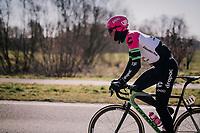 Sep Vanmarcke (BEL/Education First-Drapac)<br /> <br /> 70th Kuurne-Brussel-Kuurne 2018<br /> Kuurne › Kuurne: 200km (BELGIUM)