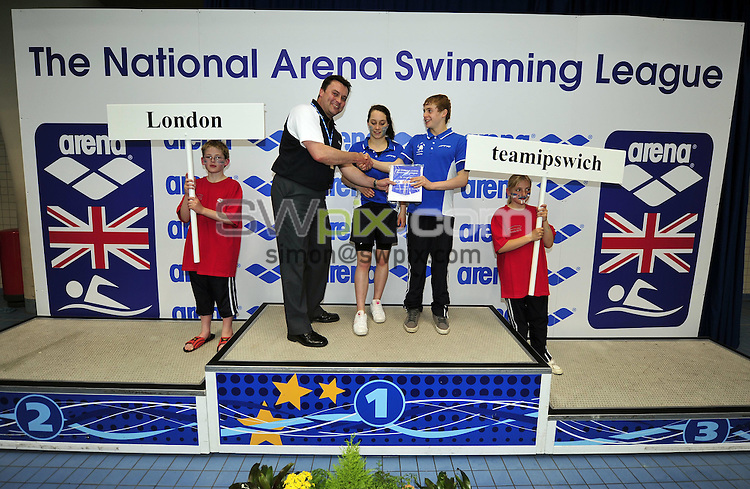 PICTURE BY VAUGHN RIDLEY/SWPIX.COM - Swimming - Arena League Final 2010 - Ponds Forge, Sheffield, England  - 25/04/10...Copyright - Simon Wilkinson - 07811267706...B League 3rd Place Ipswich.