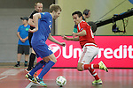 Ugra Yugorsk's Dmitri Lyskov (l) and SL Benfica's Wilhelm during UEFA Futsal Cup 2015/2016 Semifinal match. April 22,2016. (ALTERPHOTOS/Acero)
