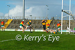 Daniel  Collins, Kerry scores his second goal during the Joe McDonagh hurling cup fourth round match between Kerry and Carlow at Austin Stack Park on Saturday.
