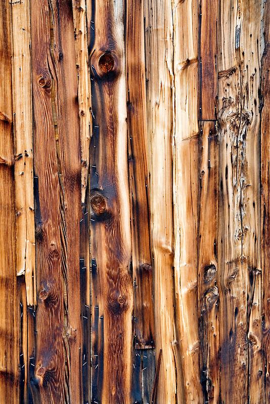 Wood siding of historic old house. Nevada City, Montana