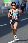 Feb. 27, 2011 - Tokyo, Japan - Yoshinori Oda of Japan powers his way to finish line at the Tokyo Marathon. (Photo by Daiju Kitamura/AFLO SPORT)