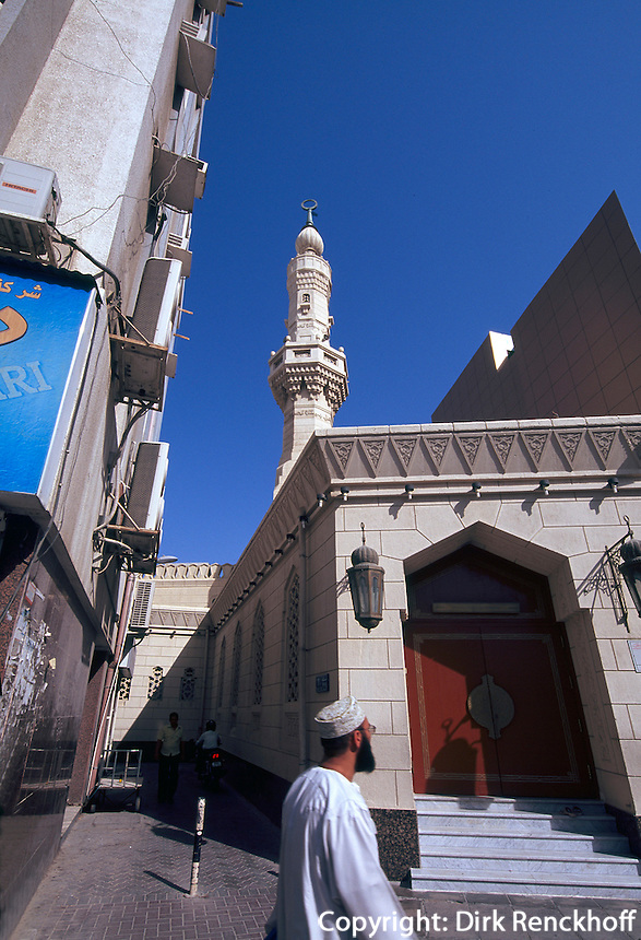 Vereinigte arabische Emirate (VAE, UAE), Dubai, Moschee in Deira