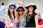 Traditional choices in hats were in evidence at Queen's Plate  at Woodbine Raceway in Toronto, Canada on July 07, 2013.