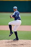 Columbus Clippers relief pitcher Matt Belisle (48) delivers a pitch during a game against the Gwinnett Stripers on May 17, 2018 at Huntington Park in Columbus, Ohio.  Gwinnett defeated Columbus 6-0.  (Mike Janes/Four Seam Images)