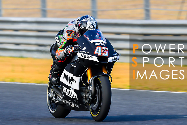 Aprilia Racing Team Gresini's rider Scott Redding of Great Britain  rides during the MotoGP Official Test at Chang International Circuit on 18 February 2018, in Buriram, Thailand. Photo by Kaikungwon Duanjumroon / Power Sport Images