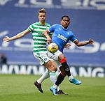 02.05.2021 Rangers v Celtic: Alfredo Morelos and Kris Ajer