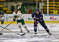 9 February 2020: University of Connecticut Husky Forward Briana Colangelo, a Senior from Whitby, Ontario, in first period action against the University of Vermont Catamounts at Gutterson Fieldhouse in Burlington, Vermont. The Lady Cats defeated the Huskies 6-2 in the second game of their weekend Hockey East series. Mandatory Credit: Ed Wolfstein Photo *** RAW (NEF) Image File Available ***