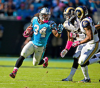 Sports action photography of the Carolina Panthers against the St. Louis Rams during their NFL game at Bank of America Stadium in Charlotte, North Carolina.  <br /> <br /> Charlotte Photographer - Patrick SchneiderPhoto.com