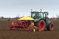 6-3-2021 Drilling Spring Barley in Lincolnshire ©Tim Scrivener Photographer 07850 303986<br />      ....Covering Agriculture In The UK....