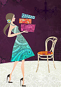 Sharon, TEENAGERS, JUGENDLICHE, JÓVENES, paintings+++++,GBSSC50FF15A,#J#, EVERYDAY ,female ,birthday