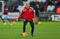 Swansea City caretaker manager Alan Curtis during the Barclays Premier League match between Swansea City and West Ham United played at The Liberty Stadium, Swansea on 20th December 2015